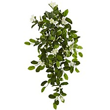 "19"" Mixed Stephanotis and Ivy Hanging Artificial Plant, Set of 4"