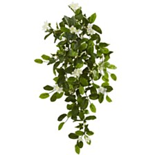 """Nearly Natural 19"""" Mixed Stephanotis and Ivy Hanging Artificial Plant, Set of 4"""