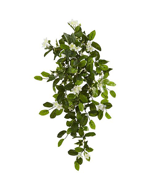 "Nearly Natural 19"" Mixed Stephanotis and Ivy Hanging Artificial Plant, Set of 4"