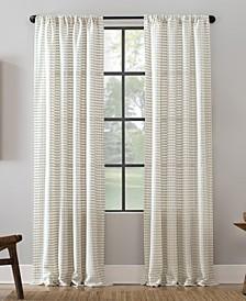 "Modern Check Pattern Anti-Dust Curtain Panel, 52"" x 63"""
