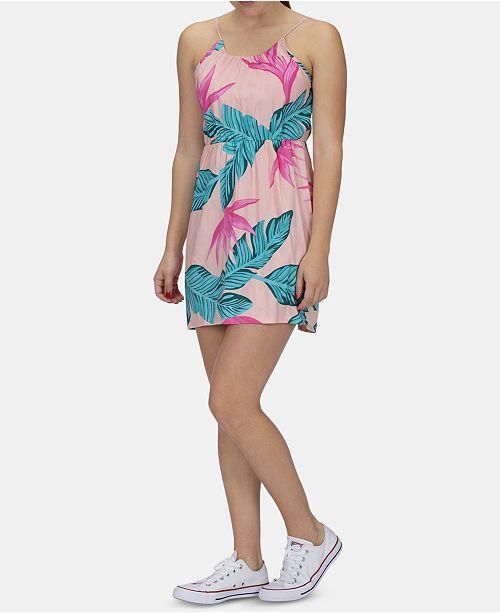 Hurley Juniors' Hanoi Floral-Print Dress