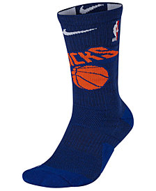 Nike Men's New York Knicks Elite Team Crew Socks