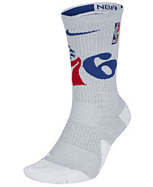 Nike Men's Philadelphia 76ers Elite Team Crew Socks