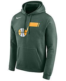 Nike Men's Utah Jazz Earned Edition Logo Essential Hoodie