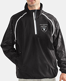 G-III Sports Men's Oakland Raiders Oxygen Player Lightweight Pullover Jacket