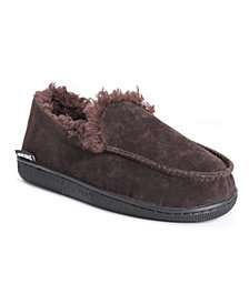 Muk Luks Men's Faux Suede Moccasin Slipper