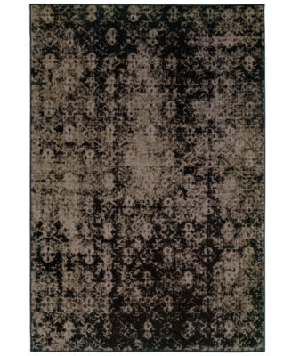 "CLOSEOUT! Area Rug, Revamp REV7216E Grey 1'10"" x 7'6"" Runner Rug"