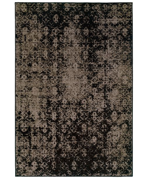 "Oriental Weavers CLOSEOUT! Area Rug, Revamp REV7216E Grey 3'10"" x 5'5"""