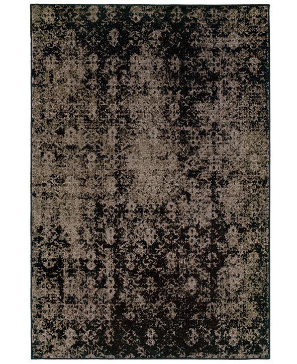"Oriental Weavers CLOSEOUT! Area Rug, Revamp REV7216E Grey 6'7"" x 9'6"""