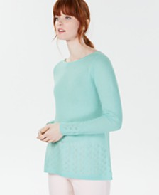 Charter Club Cashmere Pointelle-Detail Sweater, Created for Macy's