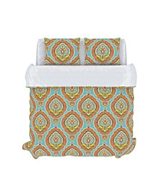 Nico Duvet Cover Set, Full/Queen, Aquamarine