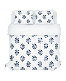 Faye Duvet Set, Full/Queen, Indigo