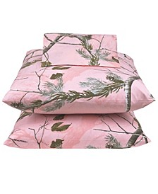 Realtree APC Pink Queen Sheet Set