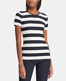 Lauren Ralph Lauren Slim Fit Striped Cotton T-Shirt