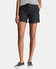 Lauren Ralph Lauren Featherweight Twill Cotton Shorts
