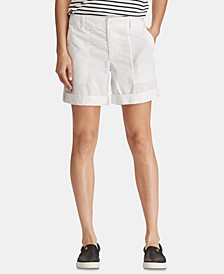 Convertible Cotton Twill Short