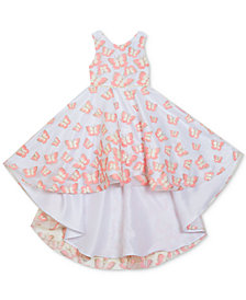 Rare Editions Toddler Girls Embroidered-Butterflies High-Low Dress