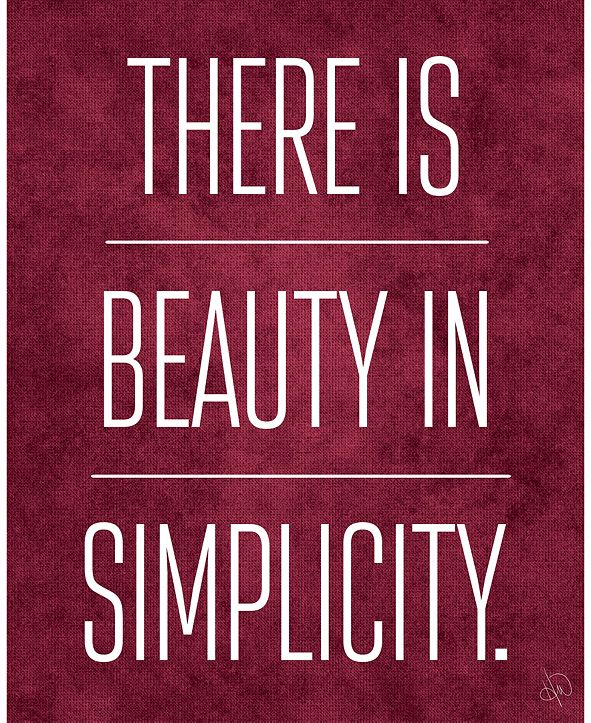 "Creative Gallery There is Beauty in Simplicity on Burgundy 16"" x 20"" Metal Wall Art Print"