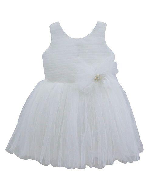 Popatu White Elegant Dress