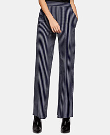 BCBGeneration Cotton Striped Palazzo Pants