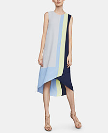 BCBGMAXAZRIA Colorblocked A-Line Dress