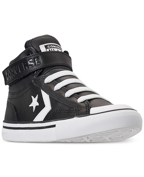 Converse Little Girls' Pro Blaze Strap High Top Casual Sneakers from Finish Line