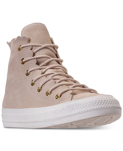 72dda5d275b40a ... Converse Women s Chuck Taylor All Star High Top Frilly Thrills Casual  Sneakers from Finish ...