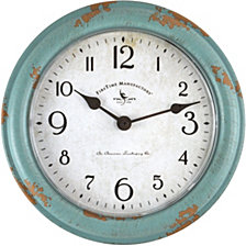 Firstime and Co. Teal Patina Wall Clock