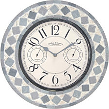 Firstime and Co. Patio Pavers Outdoor Wall Clock