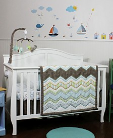 Nurture Cocoa Chevron 3 Piece Bedding Set
