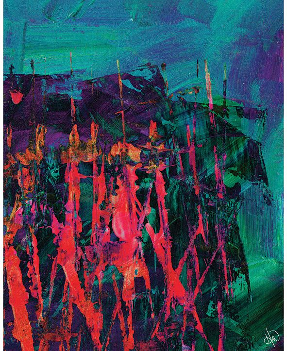 "Creative Gallery Nightcrawlers Beta Abstract 16"" x 20"" Acrylic Wall Art Print"