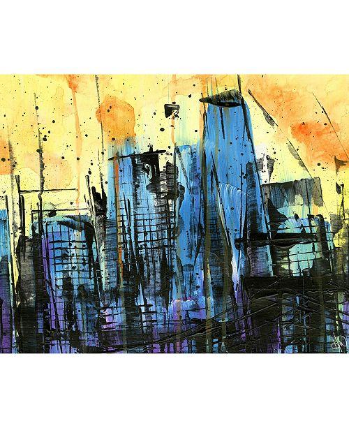 Hot Summer Night Abstract Cityscape 24 X 36 Acrylic Wall Art Print