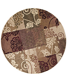 "KAS Cambridge Delaney 7359 Multi 7'7"" Round Area Rug"