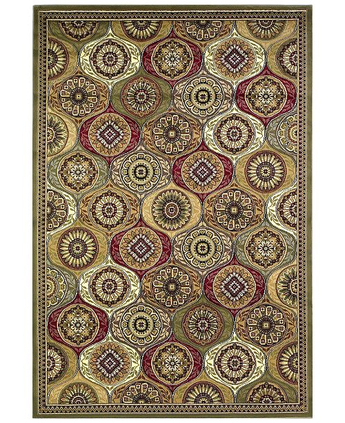 "Kas CLOSEOUT! Cambridge Mosaic Panel 7345 Multi 7'7"" Octagon Area Rug"