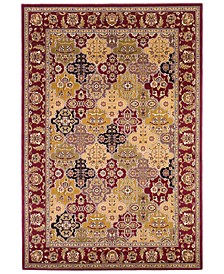 "Cambridge Panel 7325 Red 7'7"" Octagon Area Rug"