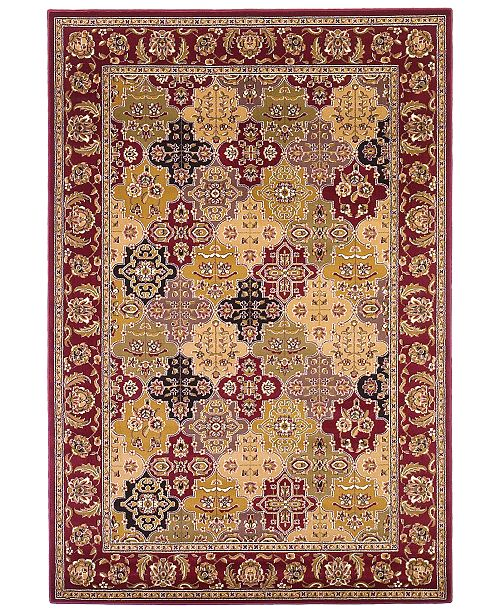 "Kas Cambridge Panel 7325 Red 7'7"" Round Area Rug"