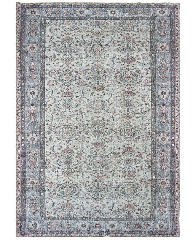 """Oriental Weavers Sofia 85814 Ivory/Blue 4'3"""" x 6'3"""" Area Rug"""