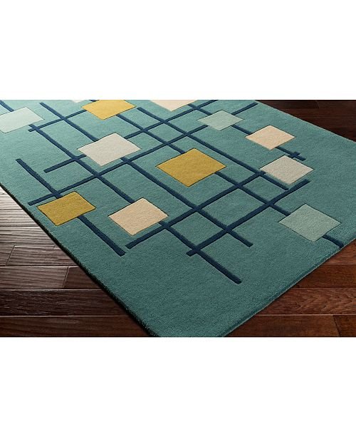"Surya Forum FM-7201 Teal 18"" Square Swatch"