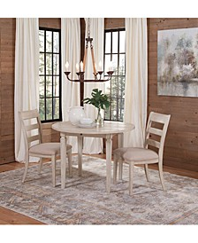 Cutler Dining 3-Pc. Set (Table & 2 Wood Back Side Chairs)
