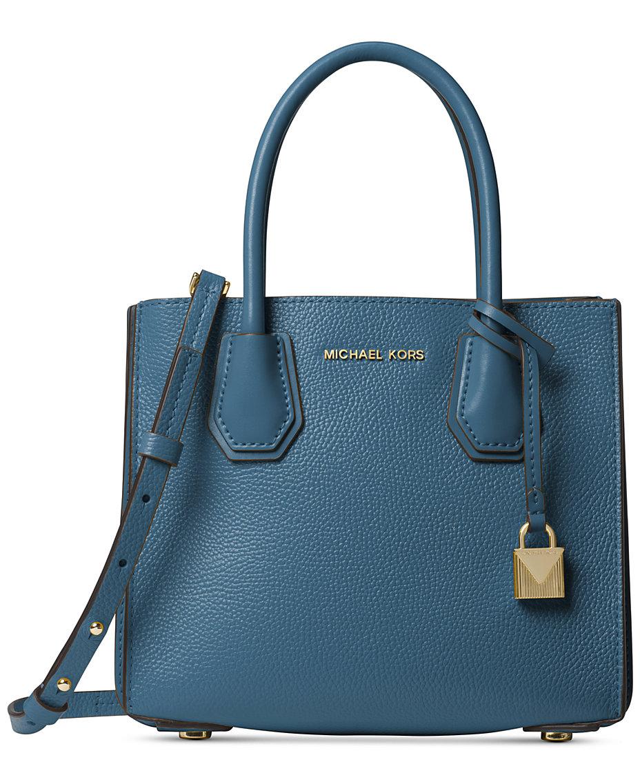 cdbe99d59858b9 Michael Kors Mercer Pebble Leather Accordion Crossbody   Reviews - Handbags    Accessories - Macy s