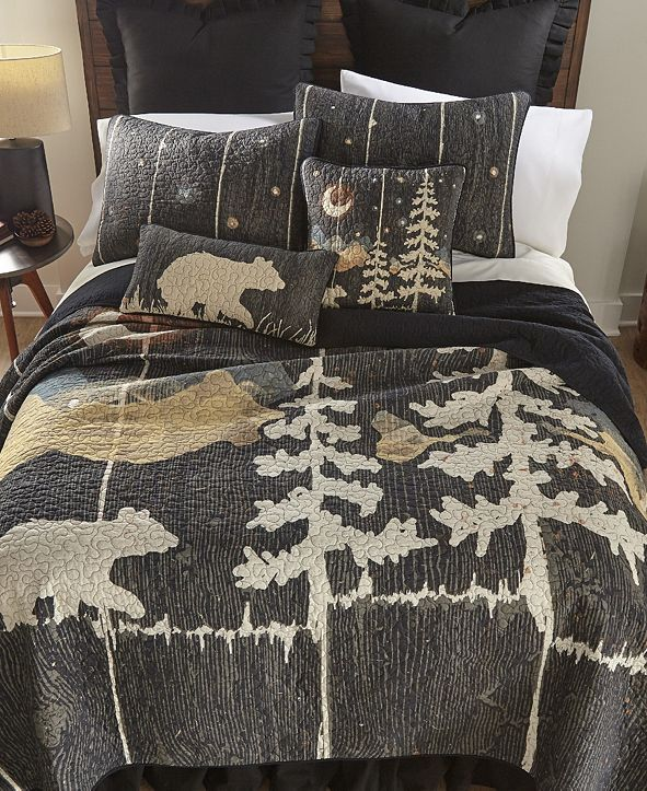 American Heritage Textiles Moonlit Bear Cotton Quilt Collection, Queen