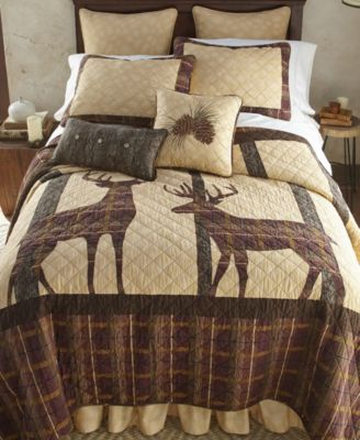 Brown Antler Woods Cotton Quilt Collection, Queen