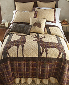 Brown Antler Woods 3 Piece Cotton Quilt Set Full Queen