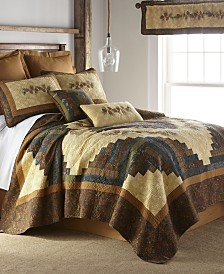 Cabin Raising Pine Cone Cotton Quilt Collection, Queen