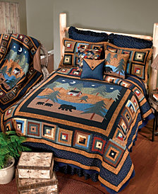 Midnight Bear Cotton Quilt Collection, Twin