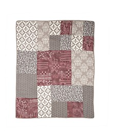 Fleur De Lis Square Cotton Throw
