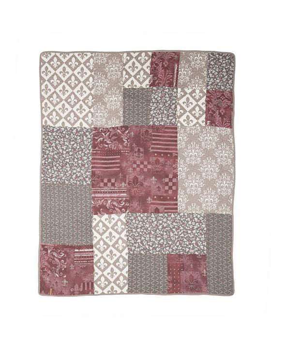 American Heritage Textiles Fleur De Lis Square Cotton Throw
