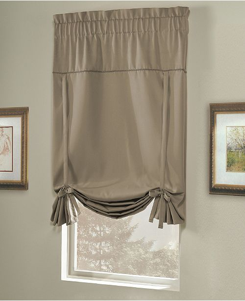 United Curtain Co Inc Blackstone 40 Quot X 63 Quot Tie Up Shade