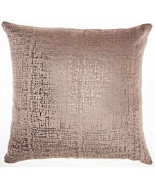 Inspire Me! Home Decor Distressed Metallic Nude Throw Pillow