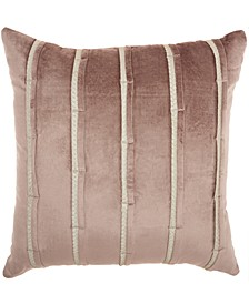 Inspire Me! Home Décor Pleated Stripes Nude Throw Pillow